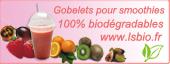 Gobelets pour smoothies 100% biodégradables