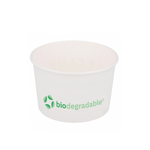 Pot à glace en carton biodégradable et compostable 120ml